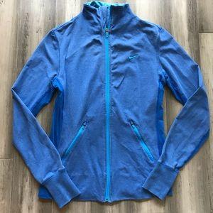 Nike Dri-Fit Full Zip Training Jacket - Blue